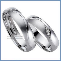 Exclusivas Argollas Mod. Faith Oro Blanco Plata Matrimonio