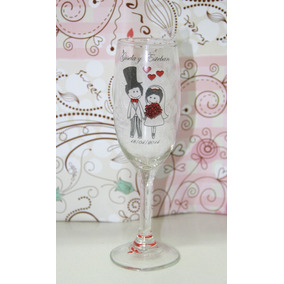 Copas Champagne Souvenirs Vidrio Tazas Mates Casamiento 15