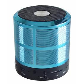 Mini Caixa Caixinha Som Portatil Bluetooth Mp3 Fm Usb Azul