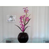 Arreglo Floral Artificial En Maceta De Fibra De Vidrio Mma