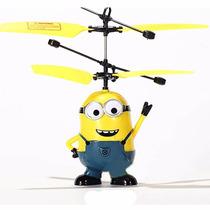 Mini Helicóptero Minions Voador Com Sensor Flying Brinquedo