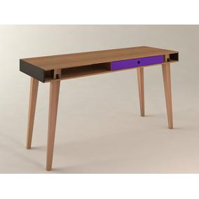 Escritorio Nórdico Madera/violeta Sauco - 1,40x0,50x0,75
