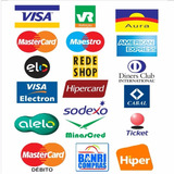 10x Adesivo Cartões Crédito Visa Master Hipercard Elo Rede