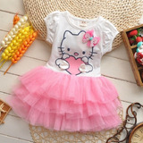 Lindo Polo Vestido Tuttu Hello Kitty