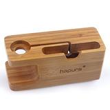 Apple Watch Soporte, Hapurs Iwatch Bambú Madera Carga