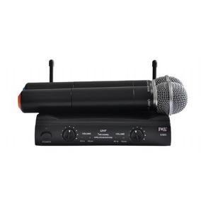 Microfone Sem Fio Jwl U-585 Uhf - Duplo Mão / Mão