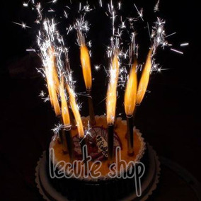 10 Velas Magicas Chisperos Pastel Fiesta Cumpleaños Birthday