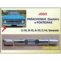 Parachoque Diant E Ponteira C-10 D10 Veraneio Cromo Especial
