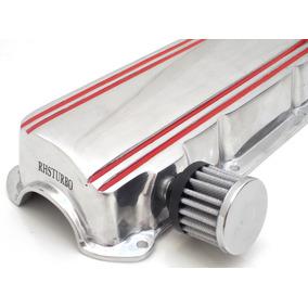 Tampa De Válvulas Motor Ap Em Aluminio Polido Cromado Race