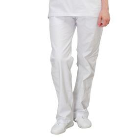 Calça Brim Branca Profissional | Cozinha |enfermagem 1 Bolso