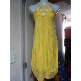 Precioso Vestido Color Amarillo Talla G