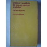 Diseño Y Analisis De Las Encuestas Sociales - Hyman