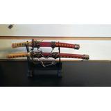 Réplicas Miniatura De Espadas Japonesas. Con Soporte. Regalo