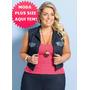 Roupa Feminina Plus Size Colete Cotton Jeans Regata Liquida!