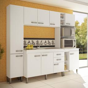 Cozinha Modulada Decibal New Madri 02 9 Portas 3 Gaveta - Br