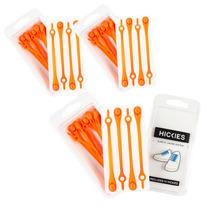 Cordones Elásticos Hickies Para Zapatillas Naranja Pack X3