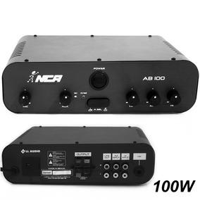 Amplificador Nca Ab100 R4 Som Ambiente C/ Nf
