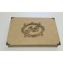 10 Caixas Lembrança Casamento Padrinhos Monograma Brasão 8cm
