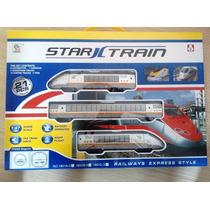 Brinquedo Ferrorama Trem Locomotiva Trilhos E Vagão