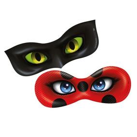 Mascaras Festa Lady Bug E Cat No Ir Original 6 Unidades