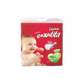 Fralda Enxutita Capricho P Com 96 Unidades Com 3 Pacotes