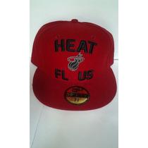 Nba Florida Miami Heat 7 3/8 New Era 59 Fifty $435 Pesos