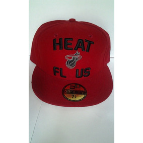 Nba Florida Miami Heat 7 3/8 New Era 59 Fifty $455 Pesos