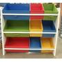 Estante Baú Brinquedos Organização Colorido Frete Grátis