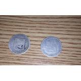 2 Monedas De Plata De 25 Céntimos Eu De Venezuela. 10000 C/u