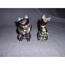 Gatos Gatitos Madera Laqueada