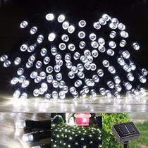 2 Serie De 100 Luces Led Solar De 17 M!! Envio Gratis!!!