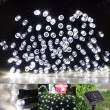 Serie De 200 Luces Led Solar De 22m Importado Envio Gratis