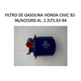 Filtro De Gasolina Honda Accord 1992-1994 Civic 1992-1996