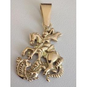 Medalha De São Jorge Em Ouro 18k 750