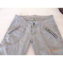 Jeans Elasticado Talla 38 Ajustado Abajo