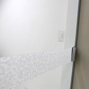 Faixa Adesivo Jateado P/ Portas De Vidro Condessa 10x100cm