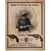 Anuncio Tipo Antiguo Smith And Wesson Revolvers El Estandar