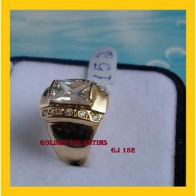 Anel C/ Brilhante Mais Barato Folheado A Ouro Gj 152