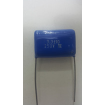 Capacitor Poliester 3m3 - 3,3uf X 250v P/ Tweeter Filtros