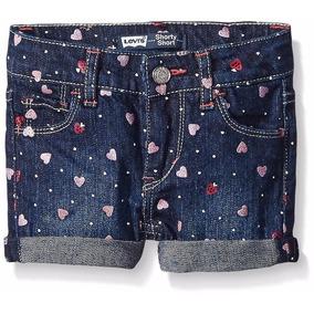 Short Jeans Infantil Coração Levis Meninas Frete Gratis