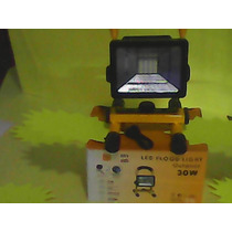 Lampreflector Led 30w Recargable Con Strobo Tipo Patrulla