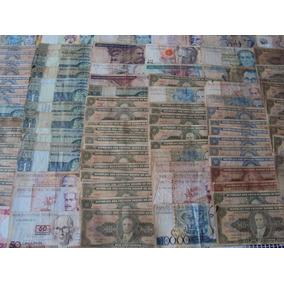 Mega Coleção Com 100 Cédulas Brasileiras Bc E Mbc
