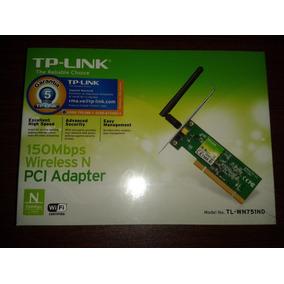 Tarjeta De Red Wifi Wn-751nd Pci 150mbps 1 Antena Tp-link