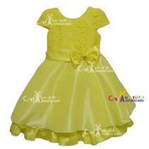 Vestido De Festa Infantil Rendado Bela Tam 04 Ao 14 Promoção