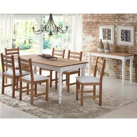 Sala Jantar 6 Cadeiras E Aparador Woody Siena Móveis J J