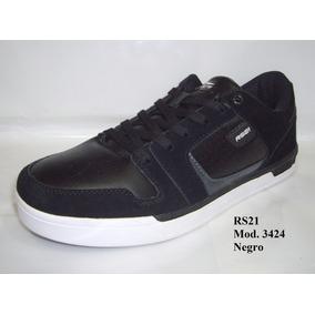Zapatos Rs21 Urbano Cuero Caballero Mod. 3424 Negro