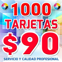 Tarjetas De Presentación A Color1000x$90 Entrega 2 D/hábiles
