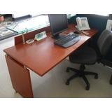 Puesto Trabajo Escritorio Recepcion Oficina Madera Mueble