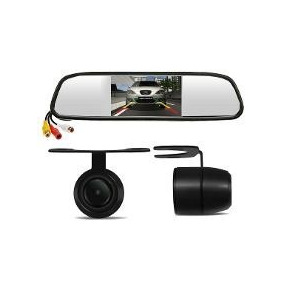 Kit Espelho Retrovisor Monitor Tela 4.3+câmera Ré Lyd-28l