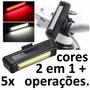 Lanterna Bike Recarregável Usb Led Cometa 2 X1 Cores+5 Pisca
